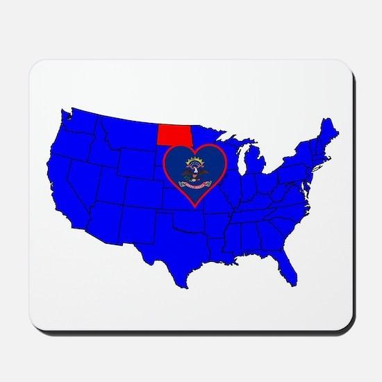 State of North Dakota Mousepad