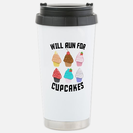 Will Run For Cupcakes Travel Mug