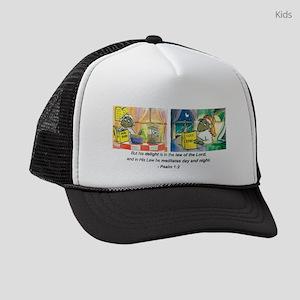 Ps 1 v2 DB Signature scan 2 16 08 Kids Trucker hat