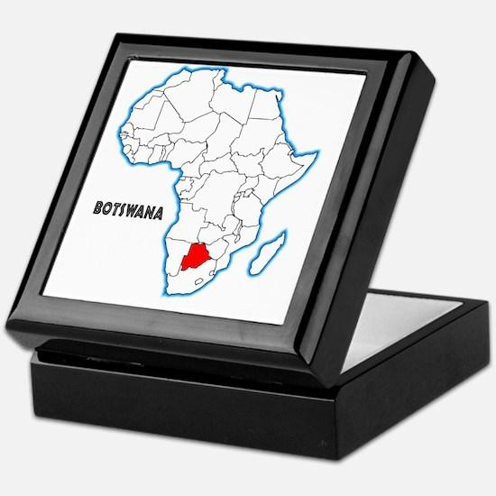 Cute Botswana Keepsake Box