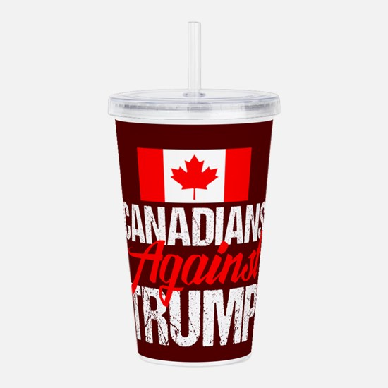 Canadians Against Trum Acrylic Double-wall Tumbler