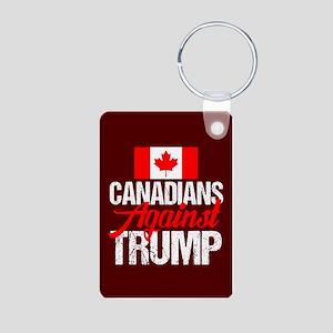 Canadians Against Trump Aluminum Photo Keychain