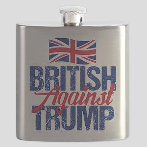 British Against Trump Flask