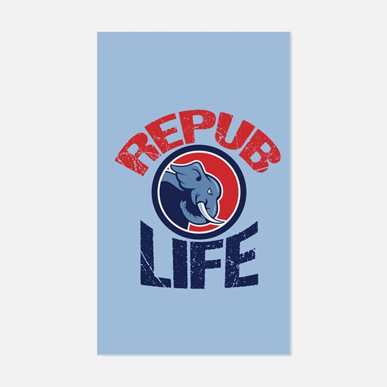 Repub Life Sticker (Rectangle)