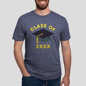 Emoji Personalized Graduate Mens Tri-blend T-Shirt