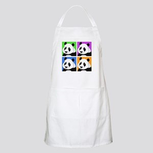 Panda Bear Squares BBQ Apron