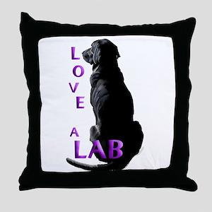 Love a Lab Throw Pillow