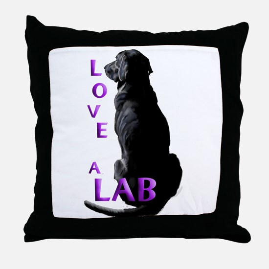 Love a Lab Throw Pillow