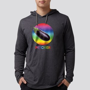 Rainbow Eggplant Pitcher Long Sleeve T-Shirt