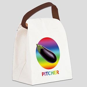 Rainbow Eggplant Pitcher Canvas Lunch Bag