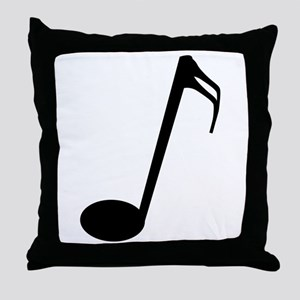 Semi Quaver Throw Pillow