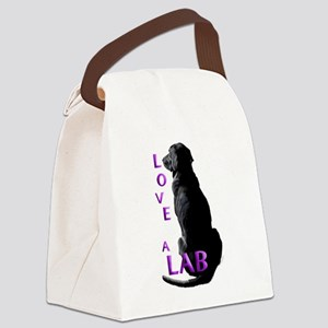 Love a Lab Canvas Lunch Bag