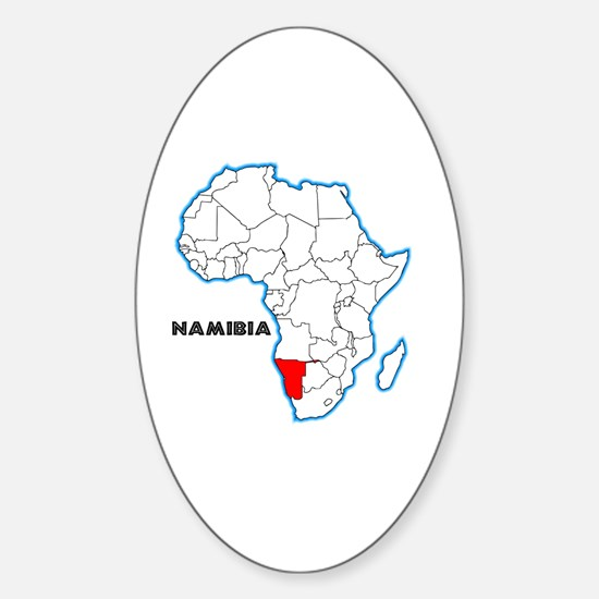 Cute Namibia Sticker (Oval)