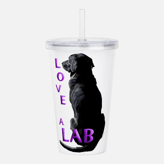 Love a Lab Acrylic Double-wall Tumbler
