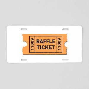Raffle Ticket Aluminum License Plate
