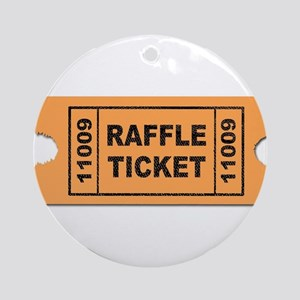 Raffle Ticket Round Ornament