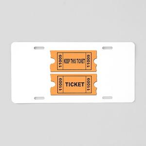 Raffle Aluminum License Plate