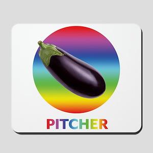 Rainbow Eggplant Pitcher Mousepad