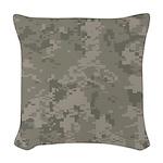 Army Camo Woven Throw Pillow