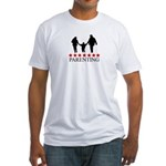 Parenting (red stars) Fitted T-Shirt
