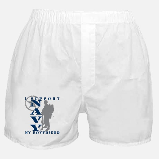 I Support Boyfriend 2 - NAVY Boxer Shorts
