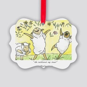 psalm 23: 3a Picture Ornament
