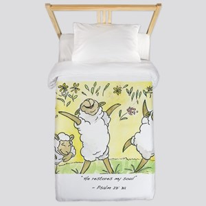 psalm 23: 3a Twin Duvet Cover