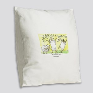 psalm 23: 3a Burlap Throw Pillow