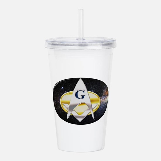 Futuristic Freemason Acrylic Double-wall Tumbler