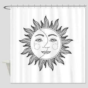 sun moon Shower Curtain