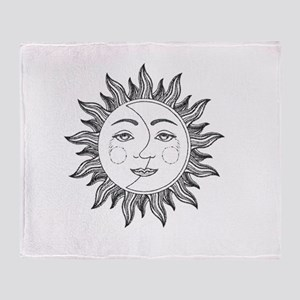 sun moon Throw Blanket