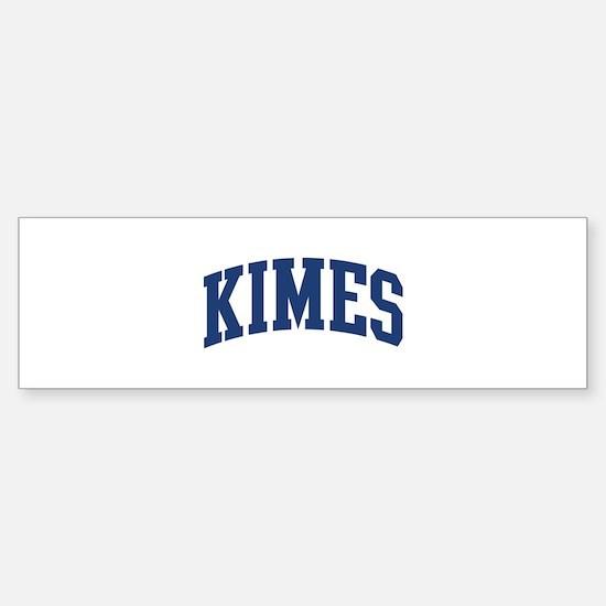 KIMES design (blue) Bumper Bumper Bumper Sticker
