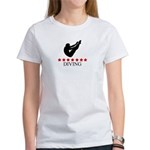Mens Diving (red stars) Women's T-Shirt