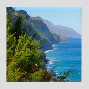 Kalalau Trail Hawaii Tile Coaster