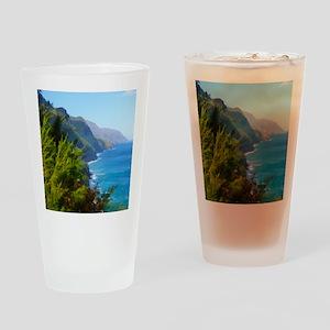 Kalalau Trail Hawaii Drinking Glass