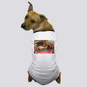 barbeque grill with with hot dogs and Dog T-Shirt