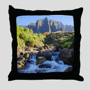Kalalau Stream Kauai Throw Pillow