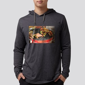 barbeque grill with with hot d Long Sleeve T-Shirt