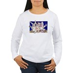 Full Moon Rabbits Women's Long Sleeve T-Shirt