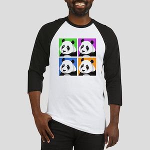 Panda Bear Squares Baseball Jersey