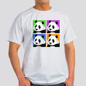 Panda Bear Squares Light T-Shirt