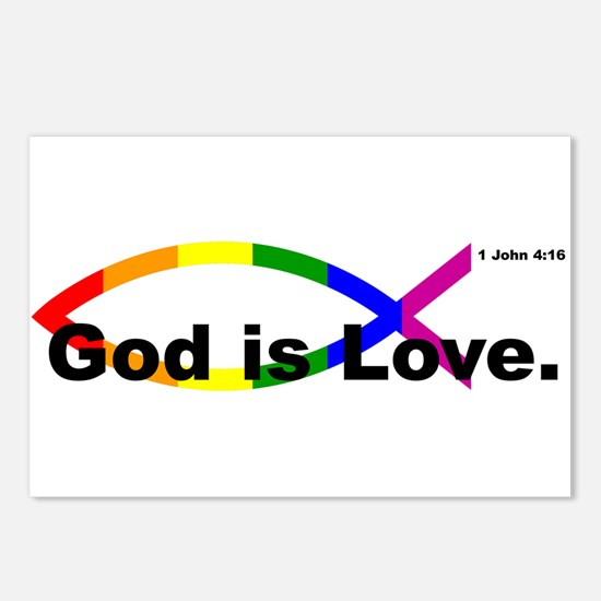 """God is Love"" bumper 10x3 Postcards (Package of 8)"