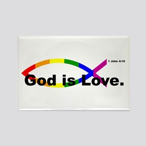 """God is Love"" bumper 10x3 Magnets"
