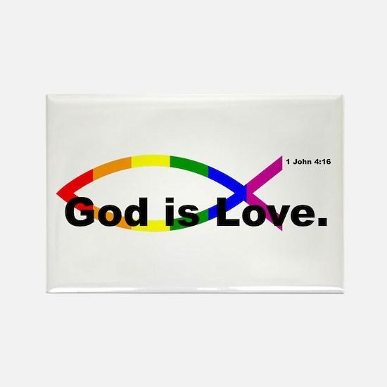 """God is Love"" bumper 10x3 Magnets"