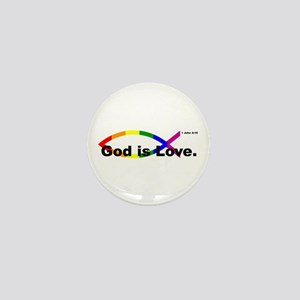 """God is Love"" bumper 10x3 Mini Button"