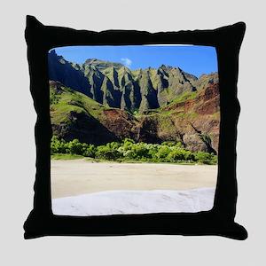 Kalalau Beach Kauai Throw Pillow