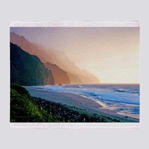 Sunset Kalalau Beach Throw Blanket