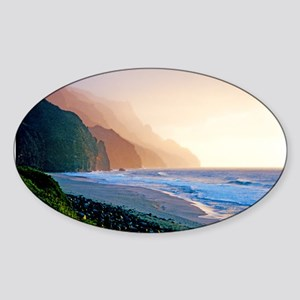 Sunset Kalalau Beach Sticker (Oval)