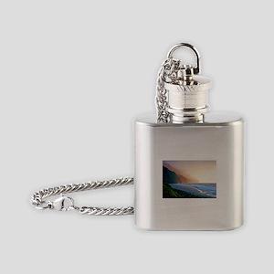 Sunset Kalalau Beach Flask Necklace