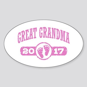 Great Grandma 2017 Sticker (Oval)